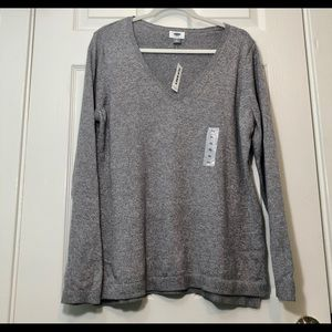 NWT Old Navy Men's Basic Grey V-Neck Sweater XL